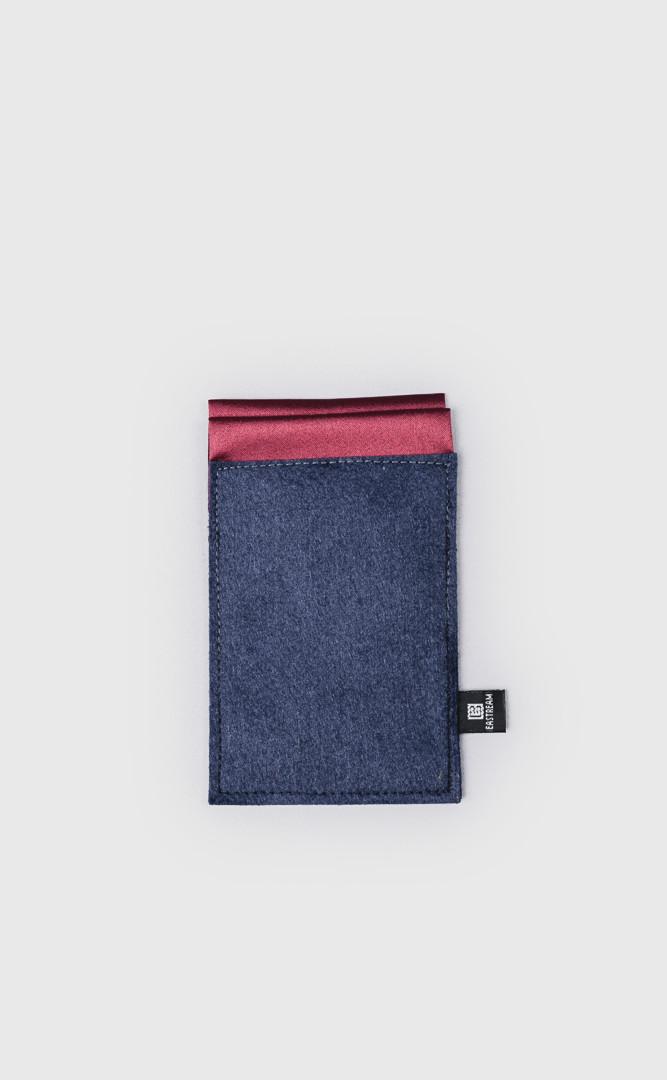 平口口袋巾 深紅色
