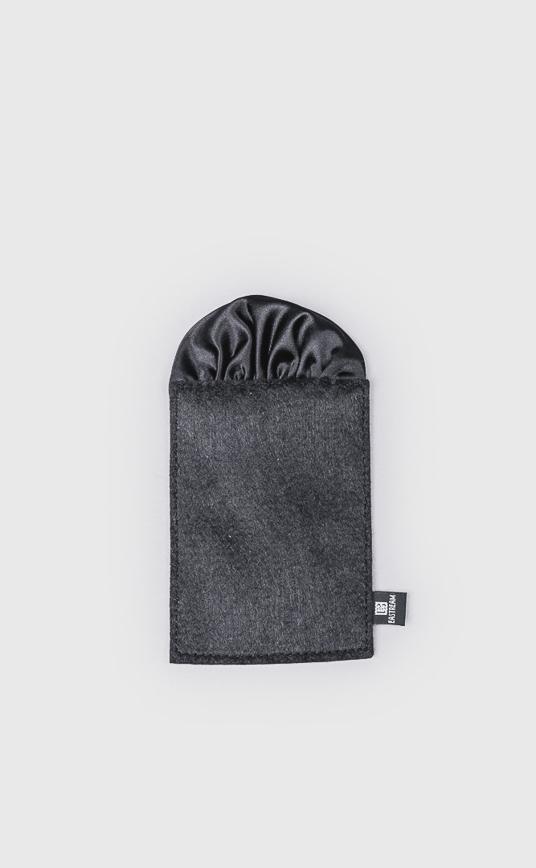 圓形口袋巾 黑色