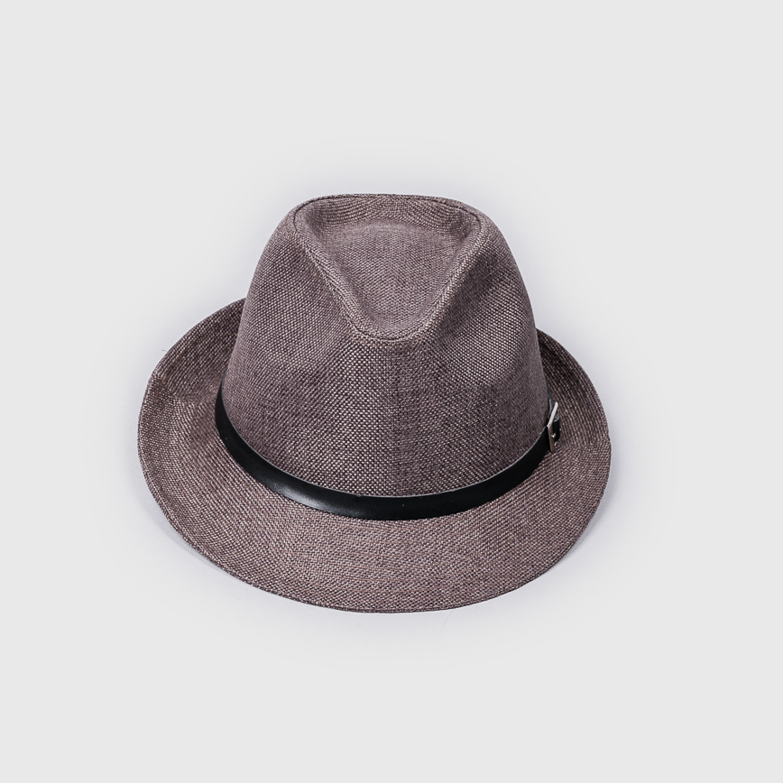 卡其編織紳士帽